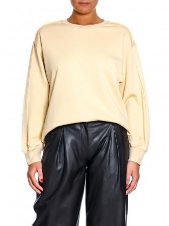 CO'COUTURE Puff Sleeve Sweatshirt Light Grey Tröjor
