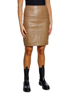 2NDDAY LEATHER SKIRT CECILIA GOLDEN CAMEL
