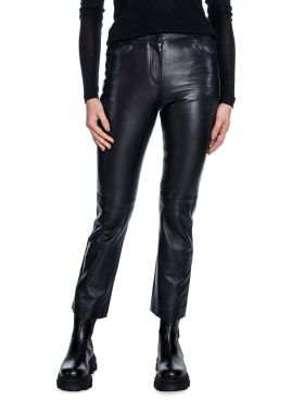 STAND TROUSERS AVERY CROP LAMB BLACK